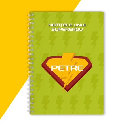 Notebook personalizat - Supererou