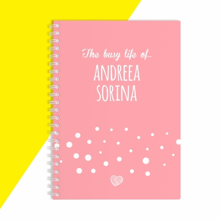 Notebook personalizat - The busy life of...