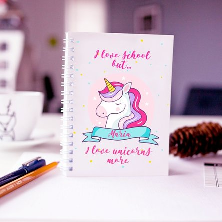 Notebook personalizat unicorn