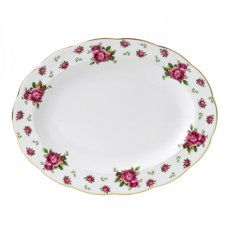 Platou oval 33 cm New Country Roses White - Royal Albert