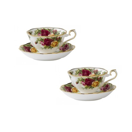 Set 2 cesti cu farfurii ceai AVON Old Country Roses - Royal Albert