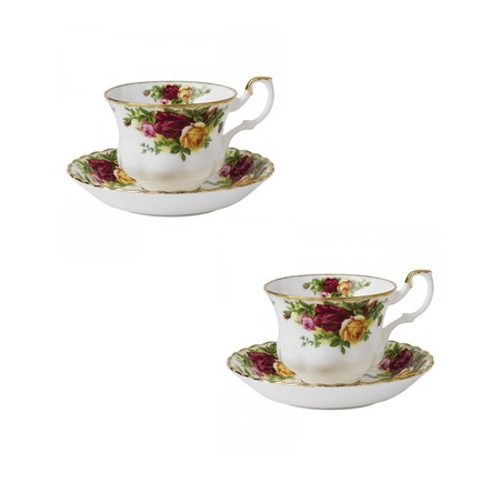 Set 2 cesti cu farfurii ceai Old Country Roses - Royal Albert