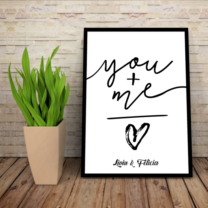 Tablou Personalizat You + Me