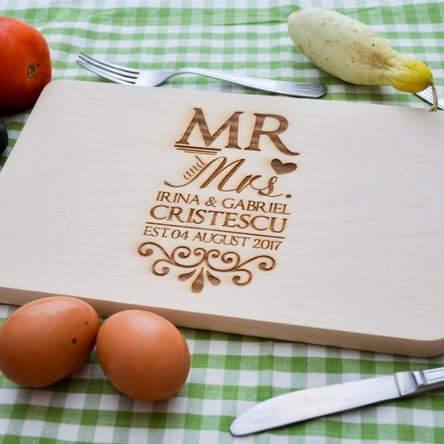 Tocător personalizat - Mr & Mrs