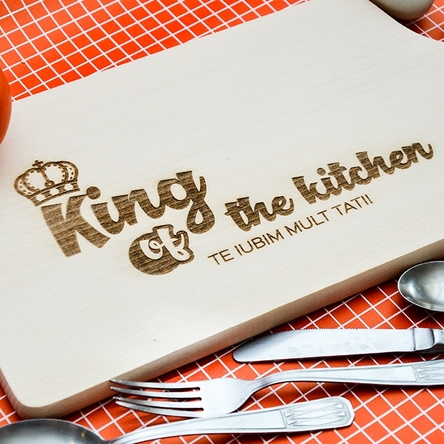 Tocător personalizat - King Of The Kitchen