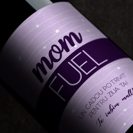 Vin personalizat cu text - Mom fuel