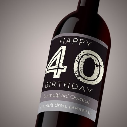 Vin personalizat - Happy Birthday